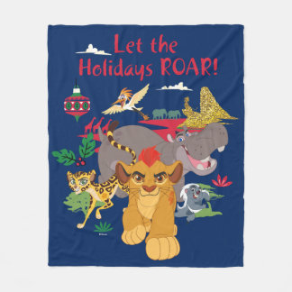 Lion Guard | Let The Holidays Roar Fleece Blanket