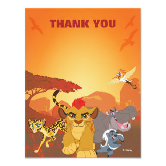 Lion Guard Thank You | Birthday Card