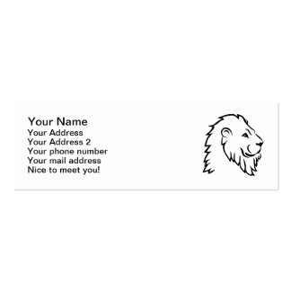 Lion head business card templates