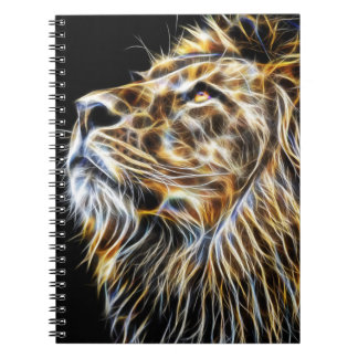 Lion Head Glowing Fractalius Notebooks
