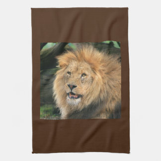 Lion head male beautiful photo kitchen tea towel