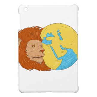 Lion Head Middle East Asia Map Globe Drawing iPad Mini Case