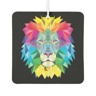 Lion Head on Black Car Air Freshener