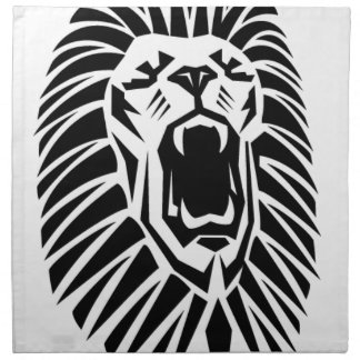 lion head vecto napkin