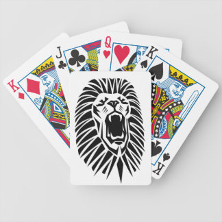 lion head vecto poker deck