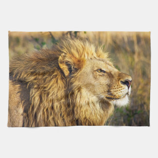 Lion Head Wildcat African Wildlife Animal Tea Towel