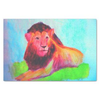 Lion Heart - Wild Animal Big Cat Art Drawing Tissue Paper