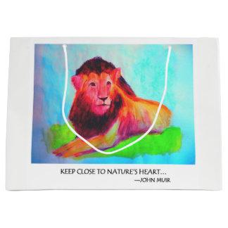 Lion Heart - Wild Animal Conservation John Muir Large Gift Bag