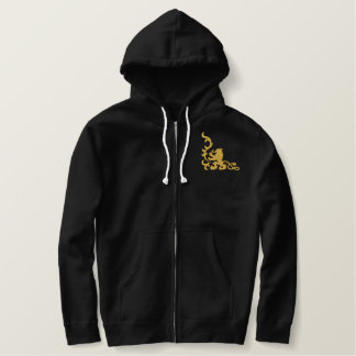 Lion Heraldic Embroidered Hoodie