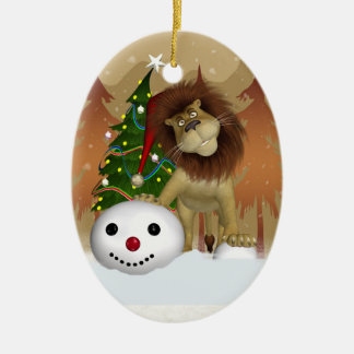 Lion Holiday Ornament - Christmas Tree Ornament