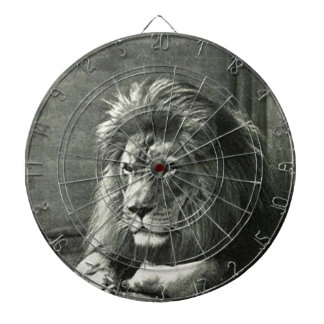 Lion Illustration Dartboard