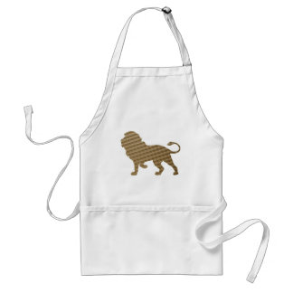 Lion in Brown Squares Standard Apron
