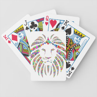 lion in colours bicycle playing cards