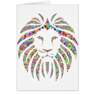 lion in colours card