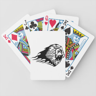 Lion in Flames Bicycle Playing Cards
