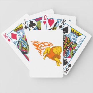 Lion in Flames Poker Deck