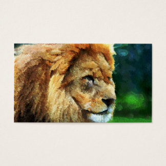 Lion In Nature Impressionist Art
