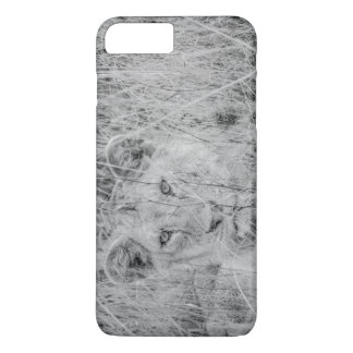 Lion in the Grass Cell Phone Cover