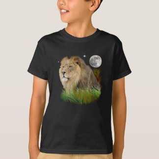 Lion in the Grass t-shirts