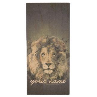 LION KING | Custom Maple Wood USB Flash Drive Wood USB 2.0 Flash Drive