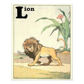 Lion King in a Desert Oasis Alphabet Animals Photo Print