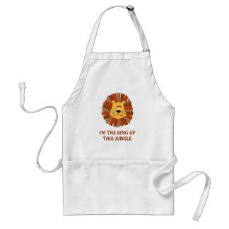 "Lion ""King of the Jungle"" Custom Apron"