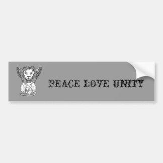 Lion & Lamb Bumper Sticker