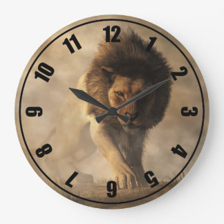 Lion Large Clock