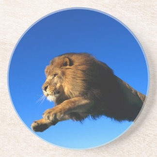 Lion Leaping and Blue Sky Sandstone Coaster