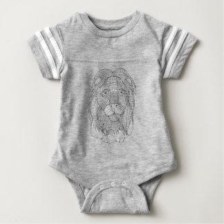Lion Line Art Design Baby Bodysuit