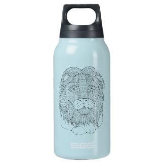 Lion Line Art Design Insulated Water Bottle