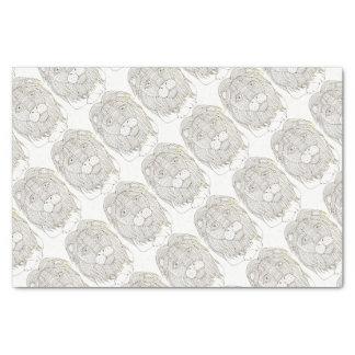 Lion Lineart Design Tissue Paper