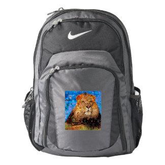 lion - lion collage - lion mosaic - lion wild backpack