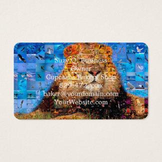 lion - lion collage - lion mosaic - lion wild business card