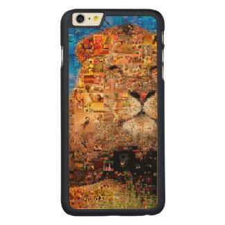 lion - lion collage - lion mosaic - lion wild carved maple iPhone 6 plus case