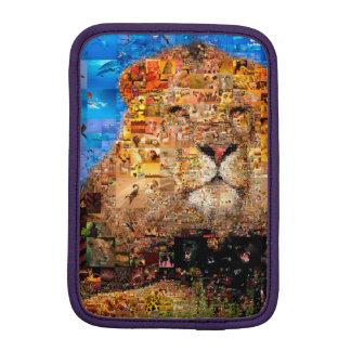 lion - lion collage - lion mosaic - lion wild iPad mini sleeve