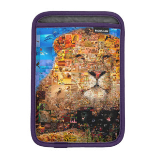 lion - lion collage - lion mosaic - lion wild iPad mini sleeve