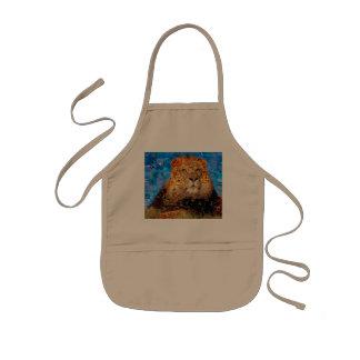 lion - lion collage - lion mosaic - lion wild kids apron