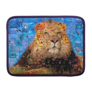 lion - lion collage - lion mosaic - lion wild MacBook air sleeve