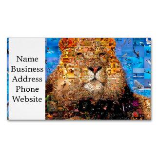 lion - lion collage - lion mosaic - lion wild Magnetic business card