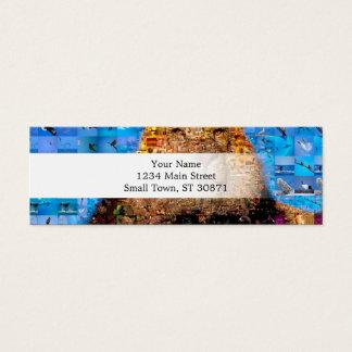 lion - lion collage - lion mosaic - lion wild mini business card