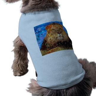 lion - lion collage - lion mosaic - lion wild shirt