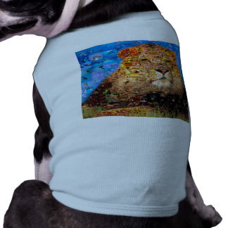 lion - lion collage - lion mosaic - lion wild sleeveless dog shirt