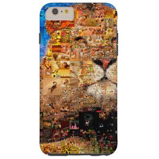 lion - lion collage - lion mosaic - lion wild tough iPhone 6 plus case