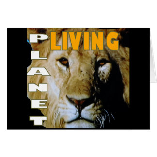 Lion Living planet eco-friendly Card