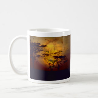Lion Looking Over African Sunset Coffee Mug