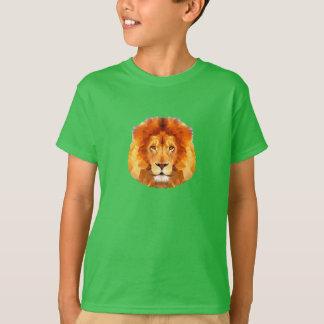 LION Low poly design. Green T-Shirt