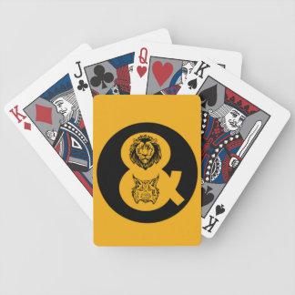 Lion & Lynx Logo Poker Deck