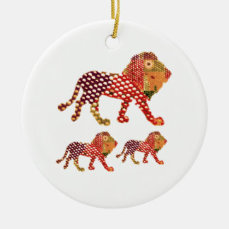 LION -  Majestic KING of animals Ceramic Ornament