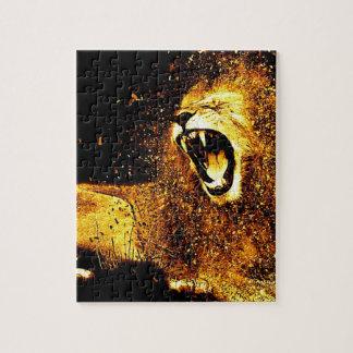 Lion Mane Hair Fur Cat Predator Males Head Jigsaw Puzzle